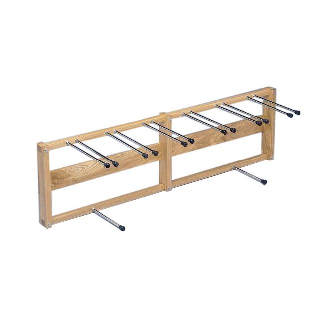Bailey crutch and cane rack