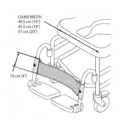 Bodypoint Aeromesh Shower Chair Calf Support