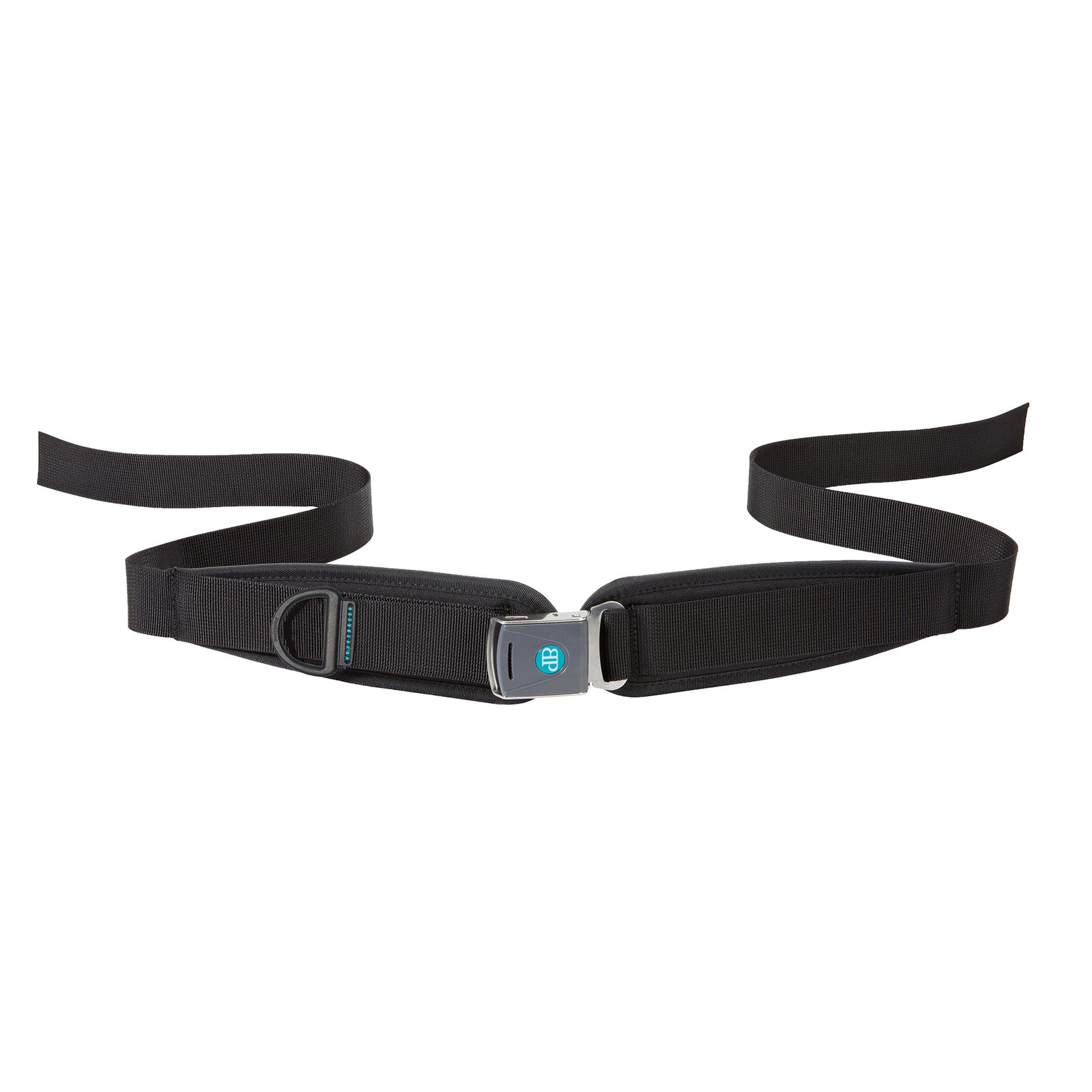 Bodypoint center pull two point padded hip belt with Rehab Latch Buckle