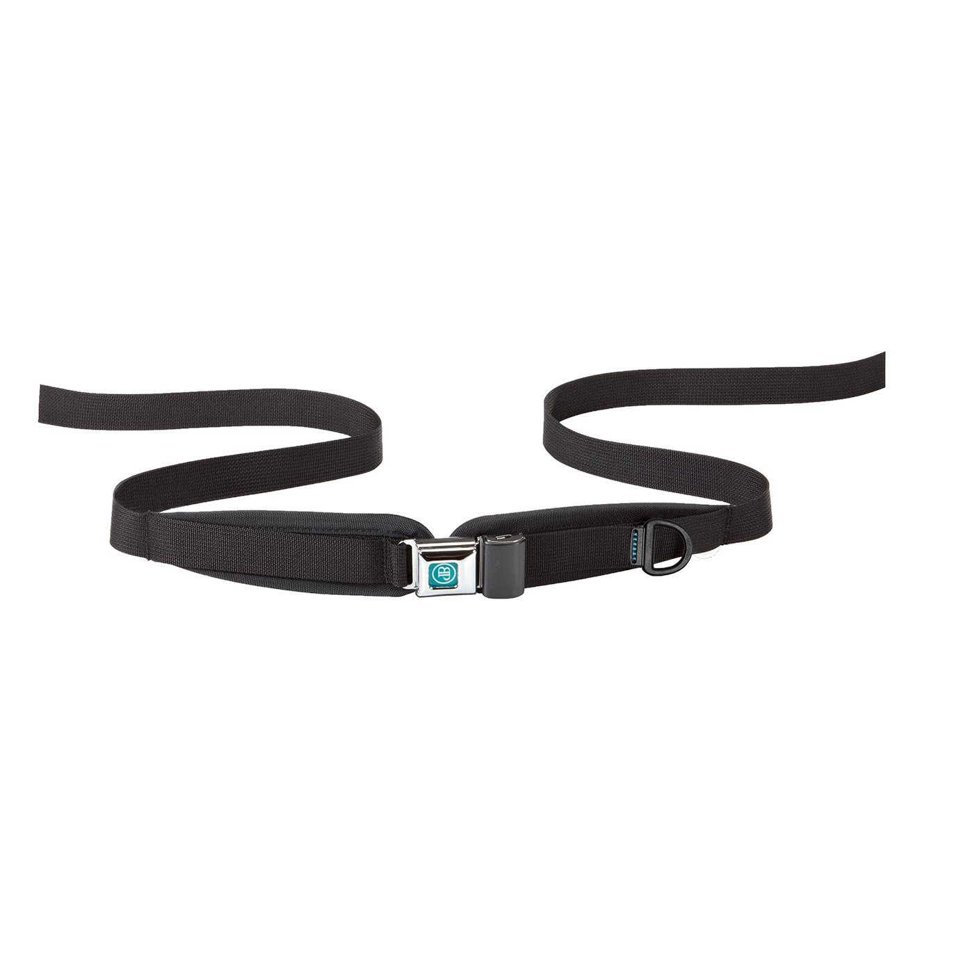 Bodypoint center-pull two point padded hip belt with metal push button buckle