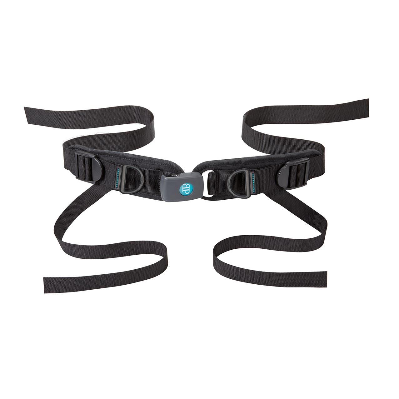 Bodypoint rear-pull four point padded hip belt with push button buckle