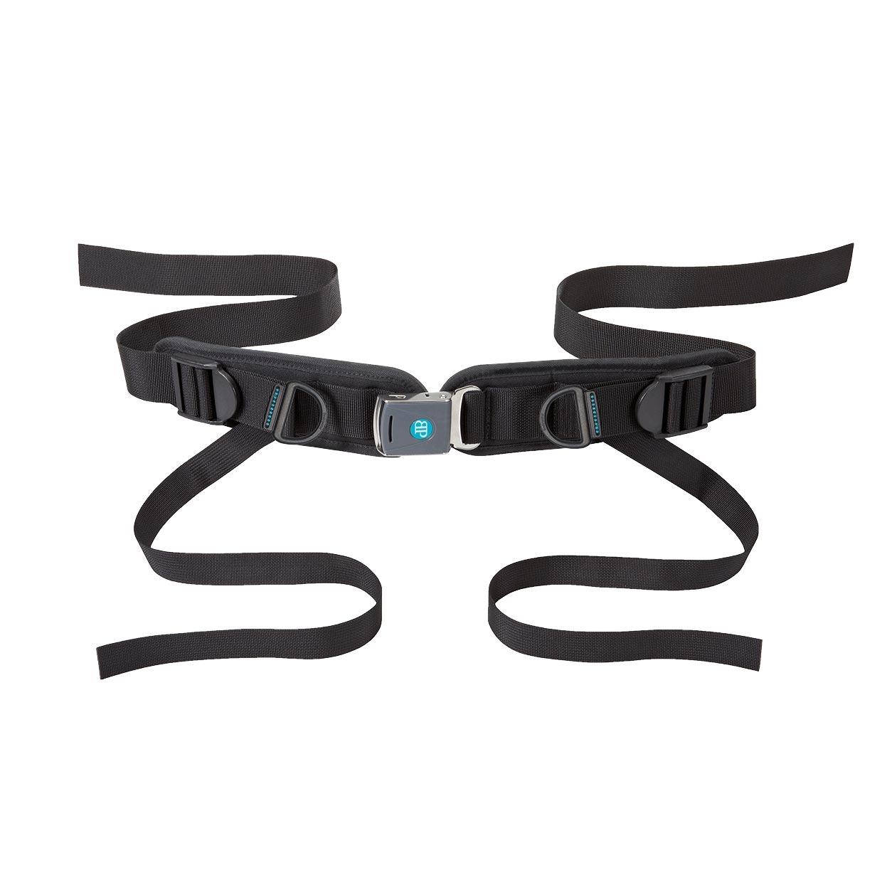 Bodypoint rear pull four point padded hip belt with Rehab Latch Buckle