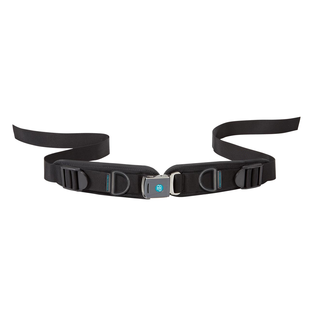 Bodypoint sub-ASIS compatible rear-pull two point padded hip belt with rehab latch buckle - medium
