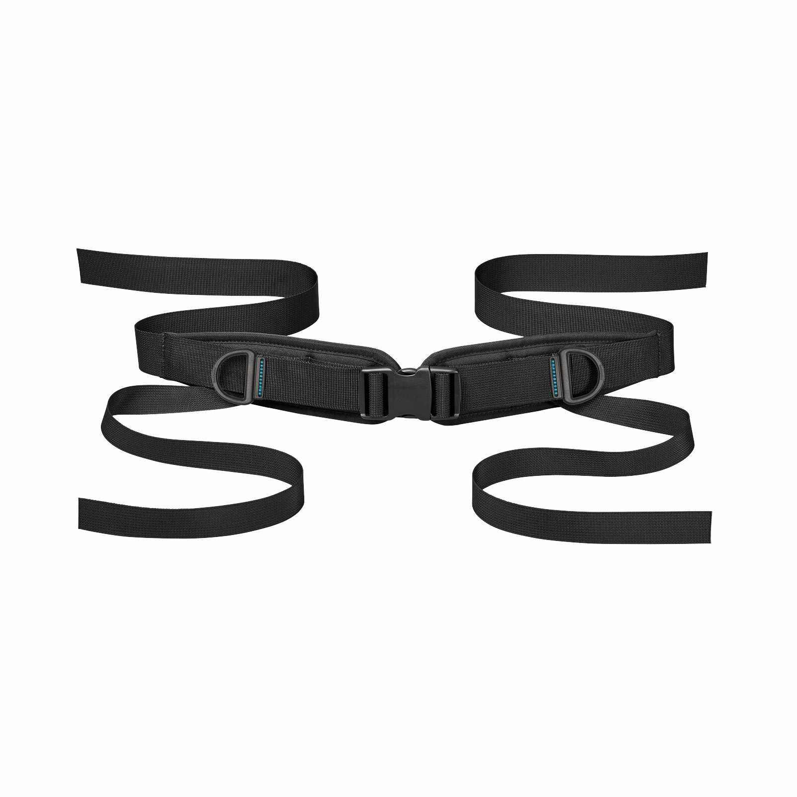 Bodypoint sub-ASIS compatible dual-pull four point padded hip belt with side release buckle - small