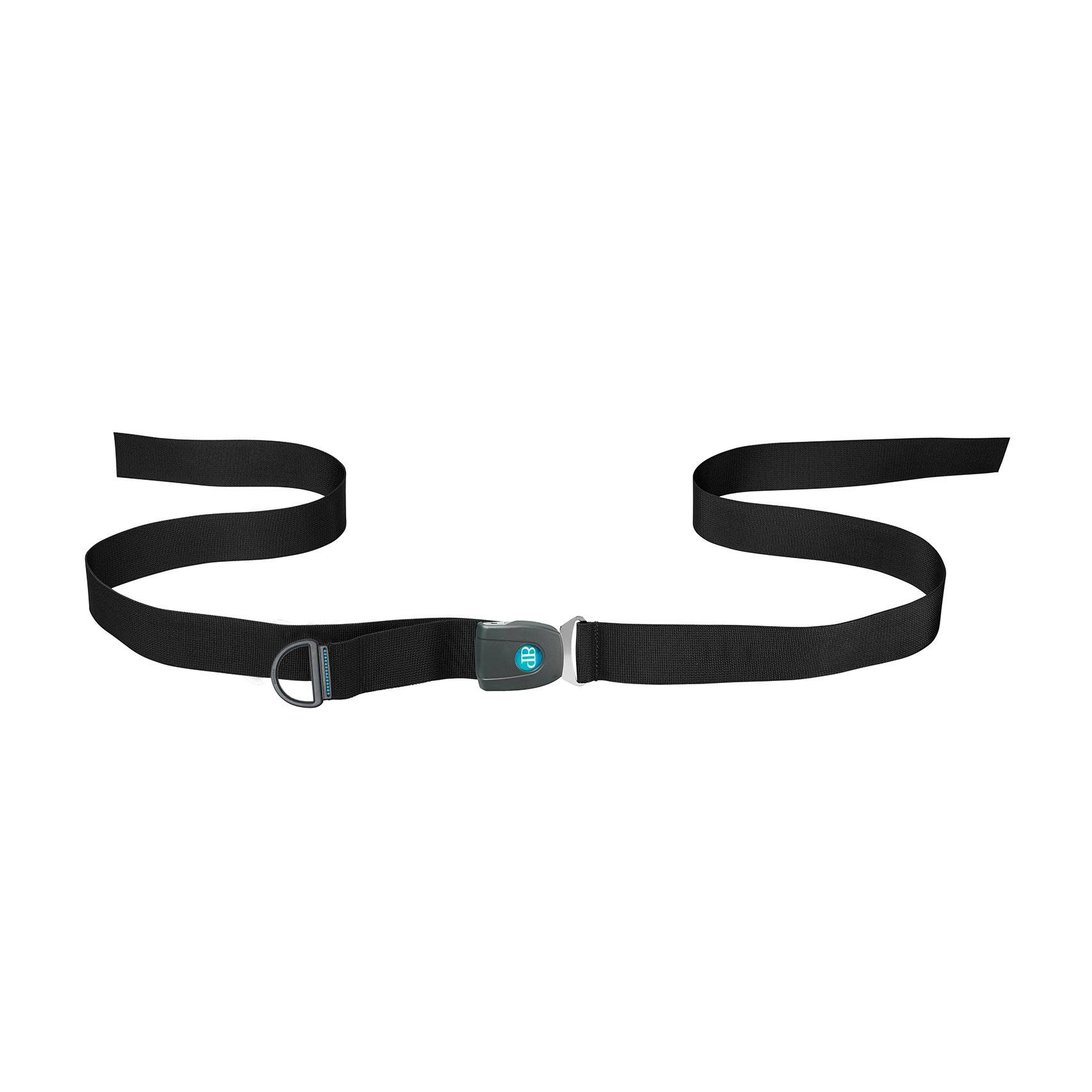 Bodypoint center-pull two point non-padded hip belt with push button buckle - bariatric
