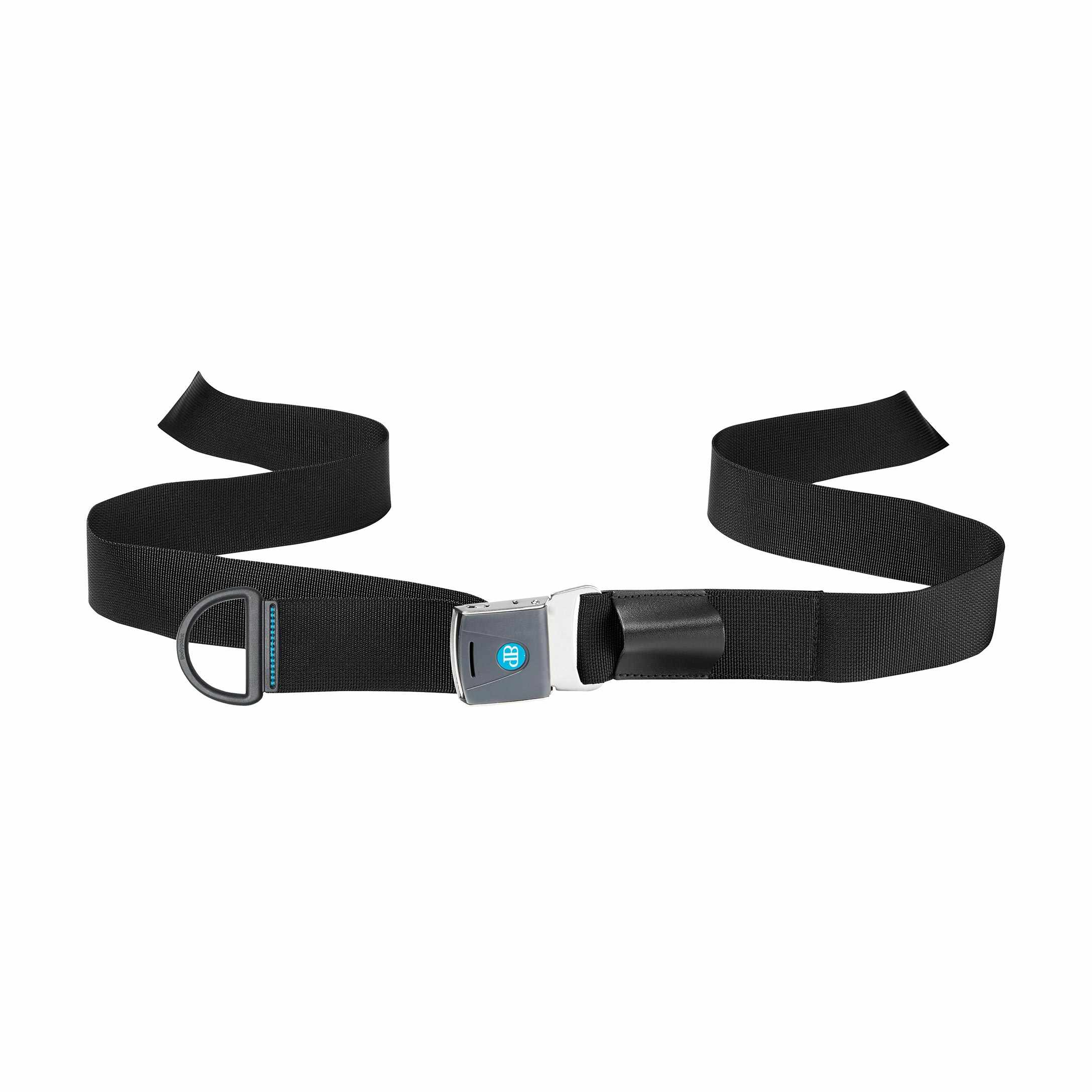 Bodypoint center-pull two point non-padded quad belt with rehab latch buckle - large