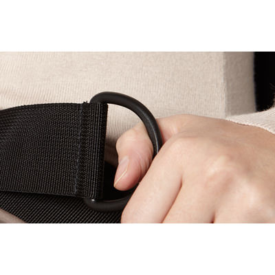 Bodypoint center-pull padded quad belt with rehab latch buckle - Webbing