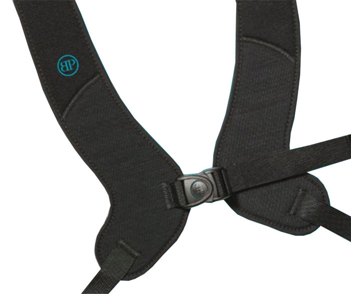 Bodypoint PivotFit dynamic front-pull shoulder harness with adjustable length top straps