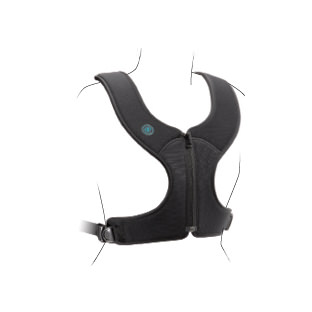 Bodypoint Stayflex standard front-pull zippered chest support with adjustable length top straps