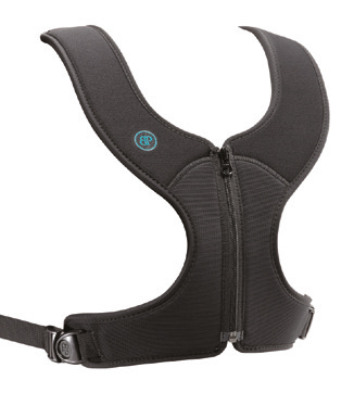 Bodypoint Stayflex narrow front-pull zippered chest support with adjustable length top straps