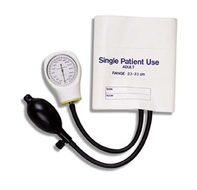 Mabis Adult Single-patient Use Sphygmomanometer, White
