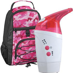 "Briggs Mabis Nebpak Ultrasonic Pink Nebulizer, 2-3/8"" x 4-5/8"" x 6-1/2"""