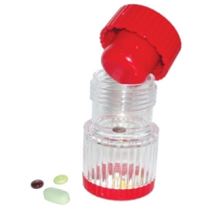 HealthSmart Pill Crusher, Red
