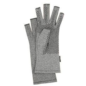 IMAK Active Gloves Medium, Soft Breathable Cotton, Heather Gray