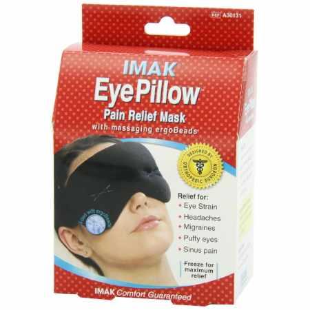 Brownmed IMAK Eye Pillow Eyes Pain Relief Mask, Universal Cotton Lycra Reusable