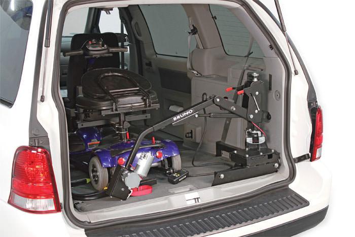 Bruno AWL-150 vehicle lifter inside car
