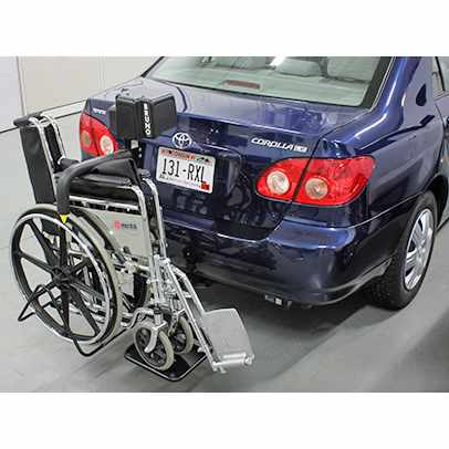 Bruno Back-Saver Hitch-mounted wheelchair lift