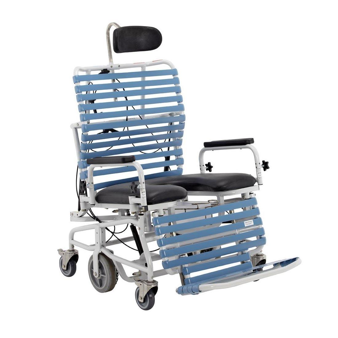 Broda Revive bariatric tilt & recline shower commode chair, B385