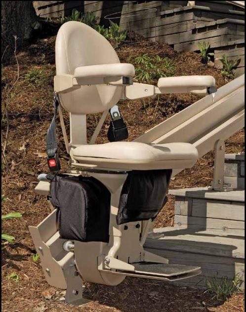 Bruno Outdoor Elite curve rail stair lift