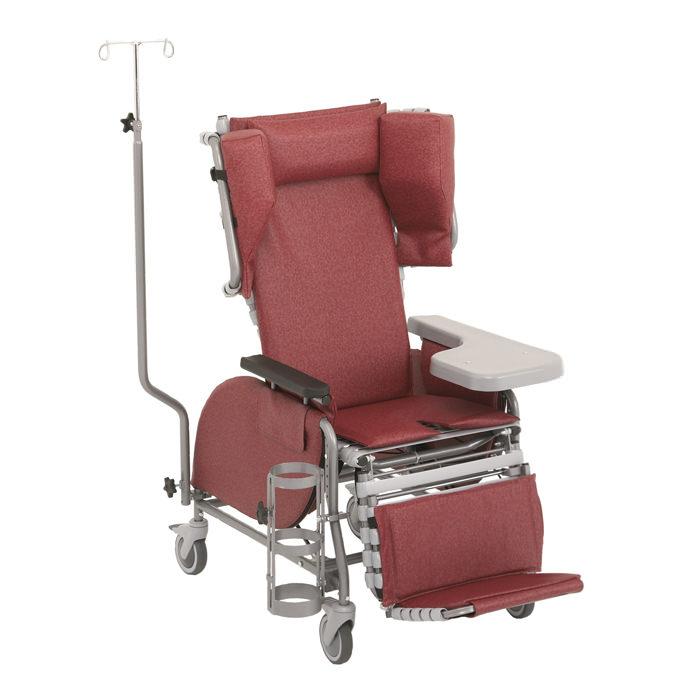 Broda midline tilt recliner for hostipal use