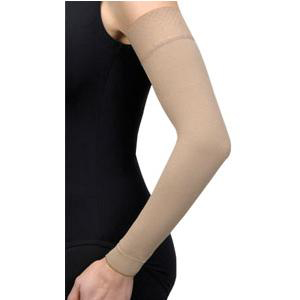 Jobst Bella lite compression arm sleeve with silicone band, small regular, beige