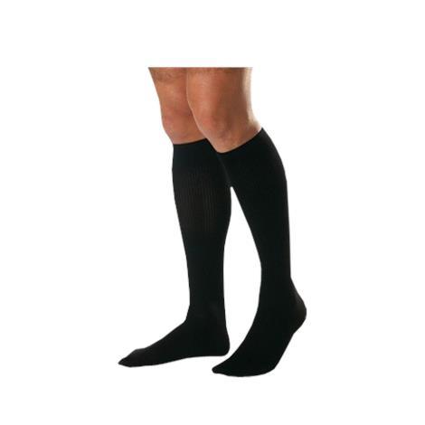 Jobst men's classic SupportWear knee-high mild compression socks, closed toe, small, black
