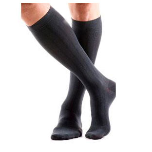 Jobst unisex ActiveWear knee-high 15-20mmHg mild compression socks, xl full calf, cool black