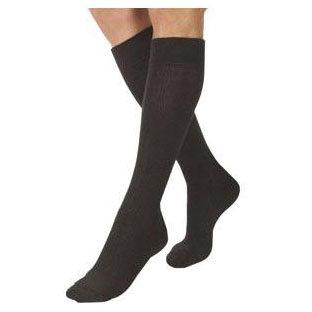 Jobst unisex ActiveWear knee-high 20-30mmHg firm socks closed toe,Extra-large full calf black