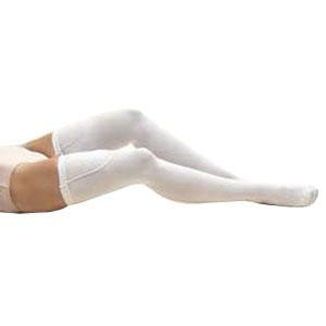 Jobst women's anti-embolism thigh-high seamless elastic stocking, closed toe,large long,ivory