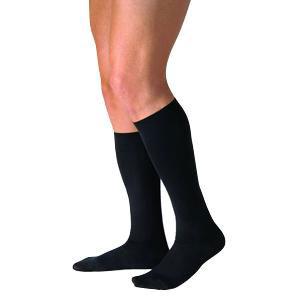 Jobst men's CasualWear knee-high 30-40mmHg extra-firm socks closed toe,Large full calf, black