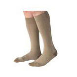 Jobst men's CasualWear knee-high 30-40mmHg extra-firm socks closed toe,Large full calf, khaki
