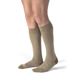 Jobst men's CasualWear knee-high 30-40mmHg extra-firm socks, Extra-large full calf, khaki