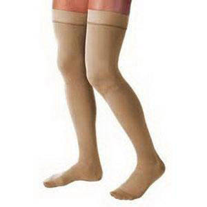 Jobst unisex Relief thigh-high 30-40mmHg X-firm stocking, open toe, small, beige