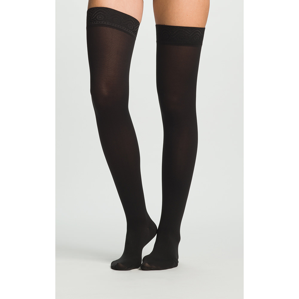 Jobst unisex Relief thigh-high 20-30mmHg firm compression stocking, closed toe, Large, black