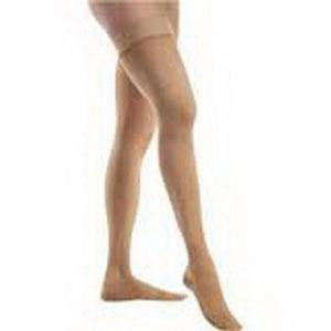 Jobst unisex Relief thigh-high 30-40mmHg extra firm stockings, large, black