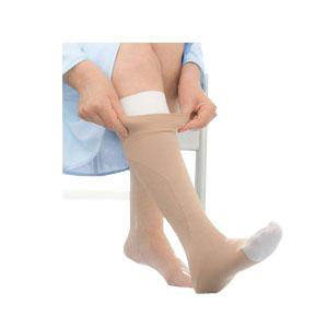 Jobst UlcerCare knee-high compression stockings with two liners, lg