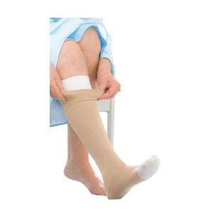 Jobst unisex UlcerCare knee-high Extra firm stocking, with liner open toe, 3X-large, beige