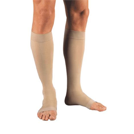 Jobst Unisex Relief Knee-High Extra Firm Compression Stockings, Open Toe, XL, Beige