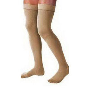 Jobst unisex Relief thigh-high 30-40mm Hg X-firm compression stocking, open toe, large, beige