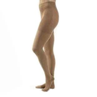 Jobst unisex Relief waist-high 20-30 mmhg firm compression pantyhose, open toe, medium, beige- Pair