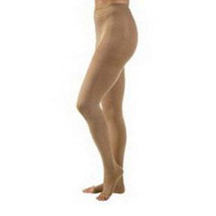Jobst unisex Relief waist-high 30-40 mmhg X-firm pantyhose open toe large, beige