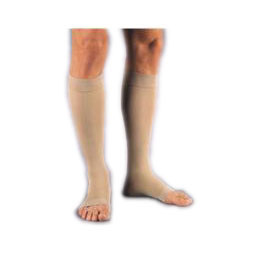 Jobst unisex Relief knee-high extra firm stockings, open toe, large, full calf, beige