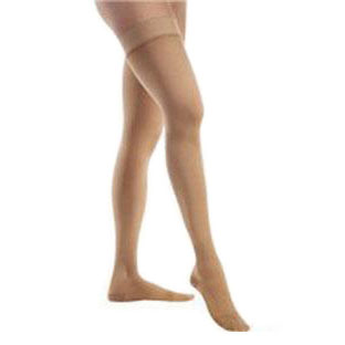 Jobst unisex Relief thigh-high moderate stockings with closed toe, Meduim, beige