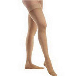 Jobst unisex Relief thigh-high moderate stockings with closed toe, X-large, beige