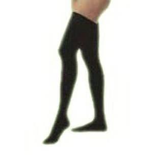 Jobst women's opaque thigh-high 20-30mmHg firm stocking, closed toe, medium, classic black