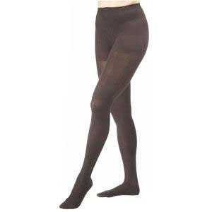 Jobst women's opaque 20-30 mmhg firm compression pantyhose, closed toe, large, classic black