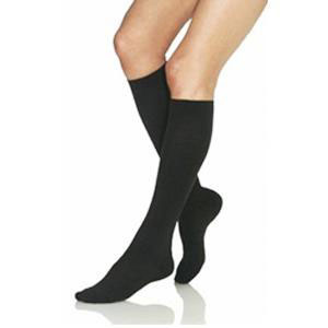 Jobst women's opaque knee-high 30-40mmHg extra firm stocking, closed toe,large, classic black