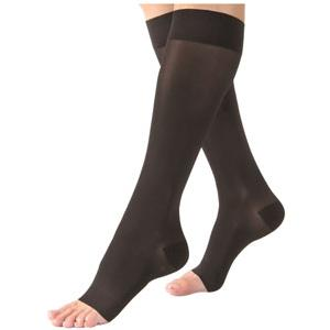 Jobst women's opaque knee-high 15-20mmHg moderate stocking, open toe, small, classic black