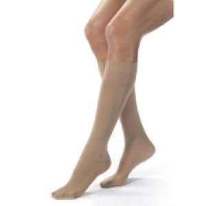 Jobst women's opaque knee-high 20-30mmHg firm stocking,closed toe, X-large full calf,natural