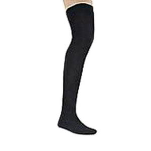 Jobst men's thigh-high 30-40mmHg ribbed extra firm stockings, closed toe, Medium, black